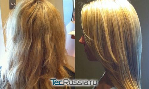 Бразильское кератиновое выпрямление волос – фото до и после