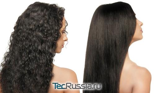 Фото до и после выпрямления волос керотином