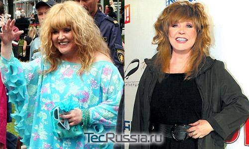 как похудела пугачева фото до и после