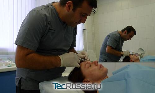 Роза Сябитова на процедурах у доктора Алексаняна Т.А.