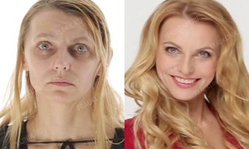 Фото Ольги до и после участия в проекте «На 10 лет моложе»