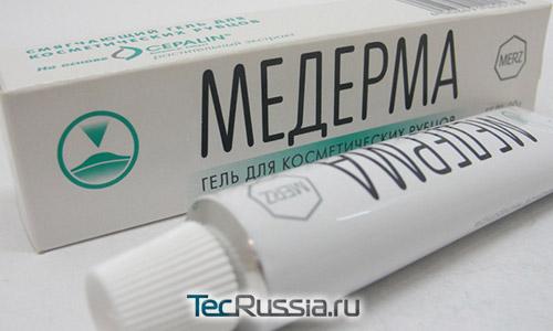 упаковка геля Медерма