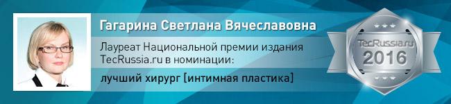 Светлана Гагарина – лауреат Национальной премии издания TecRussia.ru 2016 года