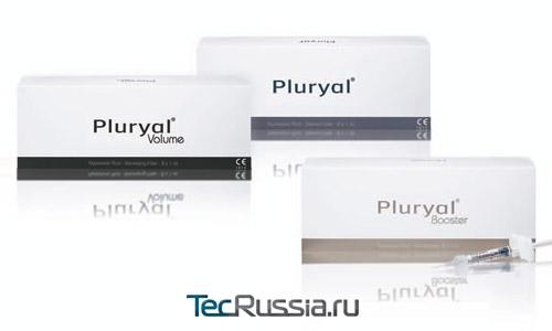 упаковки трех видов филлеров Плюриаль