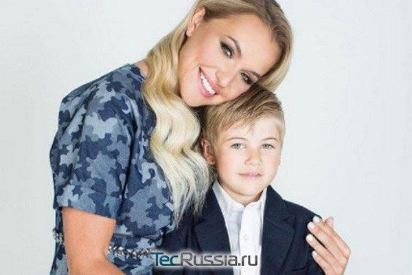 Анна Городжая с сыном